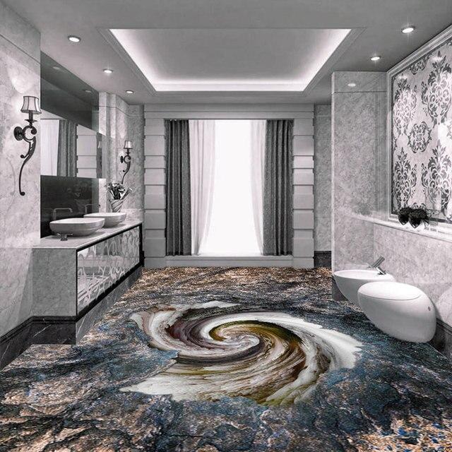 Home Decor Removable Floor Tiles Painting Wallpaper Modern Stereoscopic Vinyl Flooring Adhesives Anti Wear Pvc