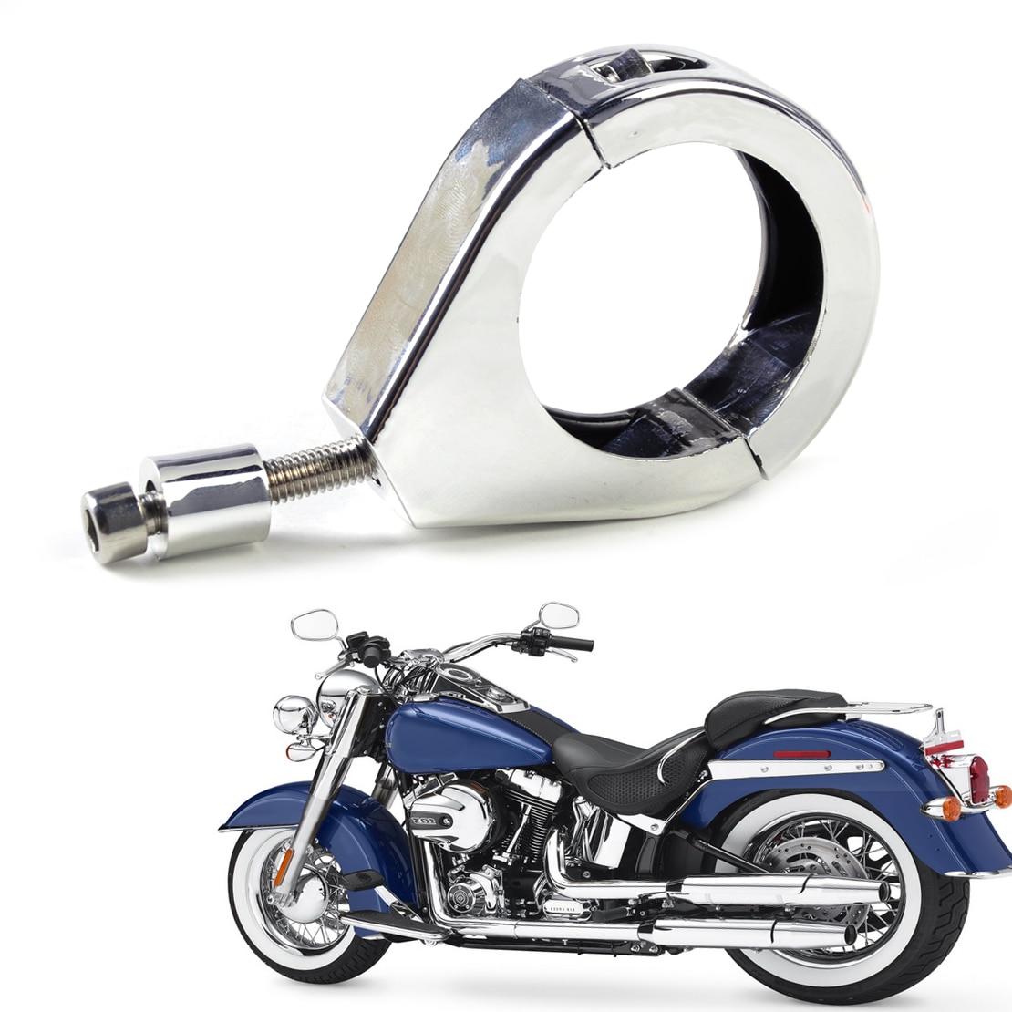 DWCX мотоцикл 41мм хром Вилка переселения зажимы сигнал поворота Индикатор Кронштейн, пригодный для Harley dyna с Софтейла