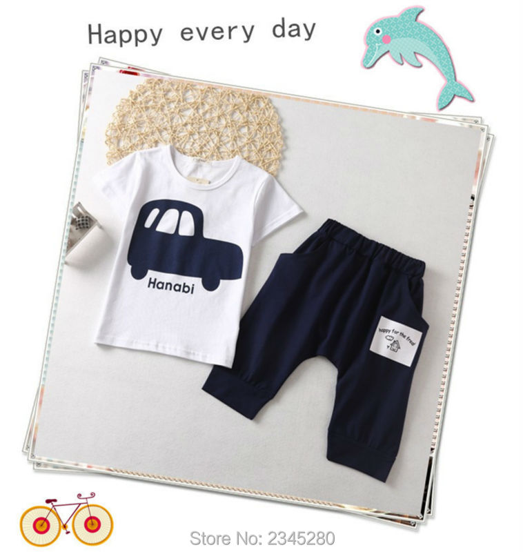 Kids Clothes Children Sets Clothing Boys Girls Clothes Car Print T Shirts Suits Short Sleeve Sport Suit Summer Kids Clothes Boys08
