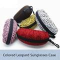 Женская мода Leopard Печатный Солнцезащитные Очки Коробки ЕВА Большие Солнцезащитные Очки Дело контейнер для линзы Случае солнцезащитные очки