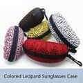 Moda Mujer Leopardo Impreso gafas de Sol Casos EVA Cuadro Grandes Gafas de Sol Caja contenedor de lentes para gafas de sol