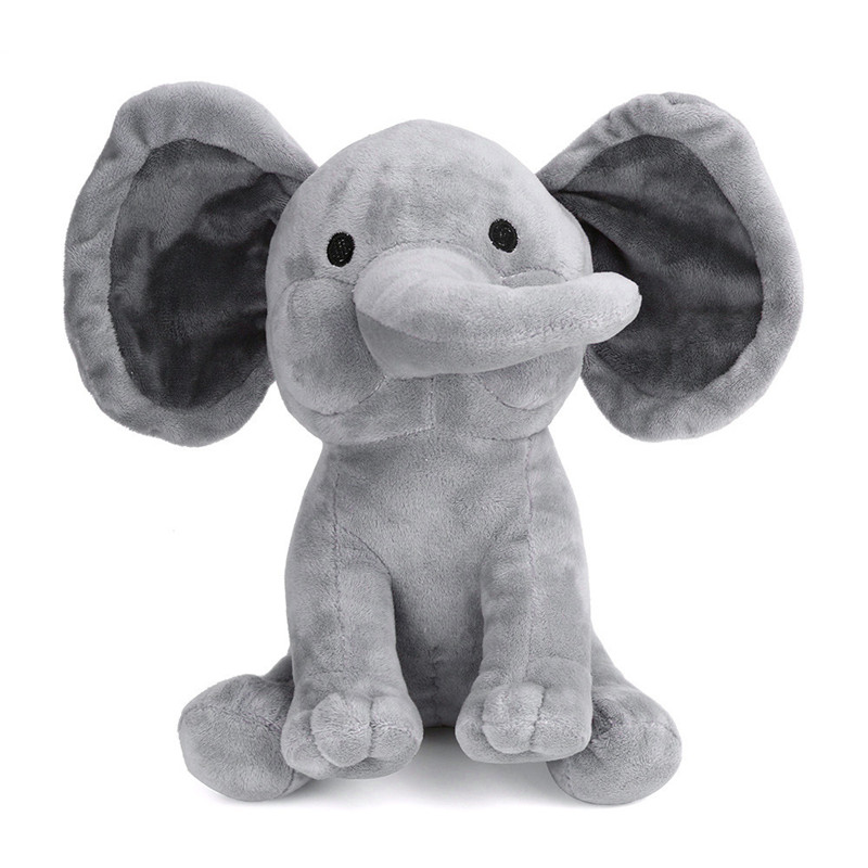 Cute 30cm Electric Elephant Plush Toy Interactive Cute Plush Toy For Kid Speaking Elephant A# dropshipping