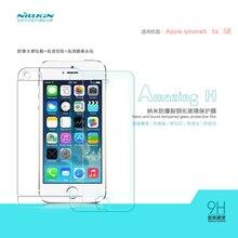 Закаленное Стекло Экран протектор для Apple iPhone SE 5 5S 5e 5SE Nillkin amazing H Нм против взрывов Стекло защитная пленка