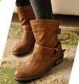 2015 outono Nova mulher senhoras sapatos zapatos mujer chaussure mulheres botas Senhoras Martin Botas ankle boots Botas de Montaria bota Casuais
