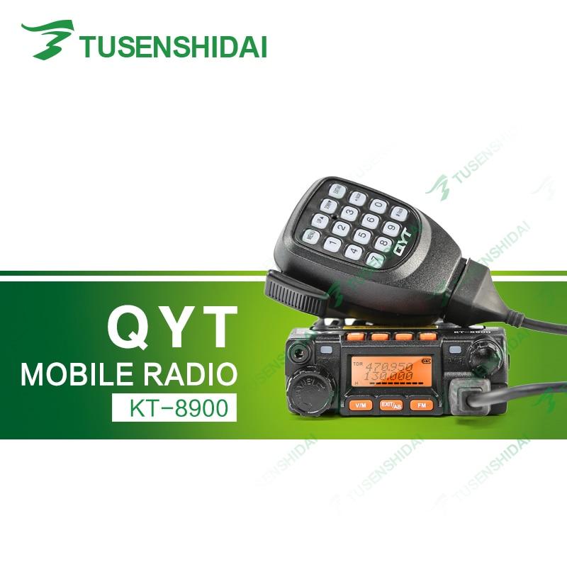 Envío Gratis QYT KT8900 Mini Transceptor de Radio Móvil + Hande micrófono Car Truck Taxi Ham + Cable de Programación
