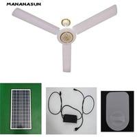 dc solar ceiling fan solar powered cooling fans + 40W 50W solar panel+ac/dc converter runs 24h working