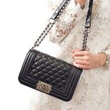 Las mujeres del Diseñador Bolsa de Mensajero Hombro de Las Señoras de Lujo de Marcas Famosas bolso de cuero Cruzada cuerpo bolsa de la cadena Bolsos bolsa feminina