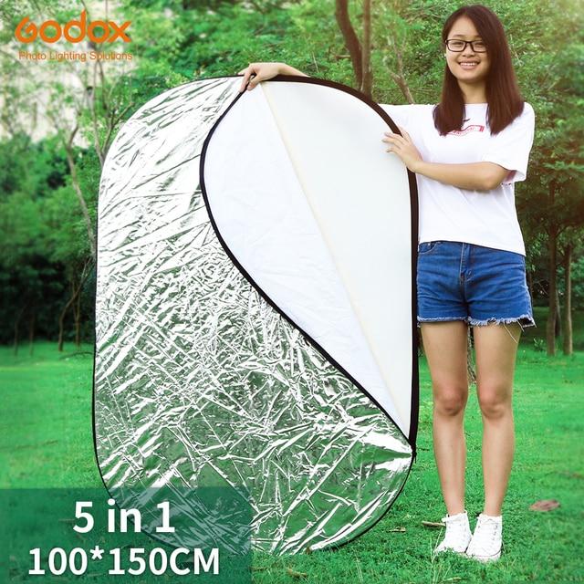 "Godox 39 ""* 59"" 100x150 cm 5 em 1 luz dobrável portátil fotografia oval/foto refletor para estúdio"