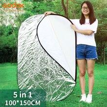"Godox 39 ""* 59"" 100x150 cm 5 in 1 Tragbare Faltbare Licht Oval Fotografie/Foto reflektor für Studio"