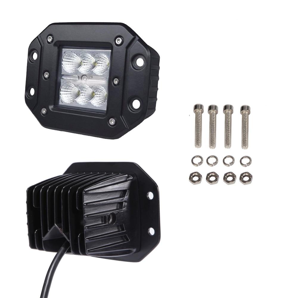 2pcs 24W 3INCH LED WORK LIGHT Flush Mount Cube Pods 4D Fog Lamp Spotlight For Offroad Driving SUV Trucks JEEP Pickup 4WD Boat