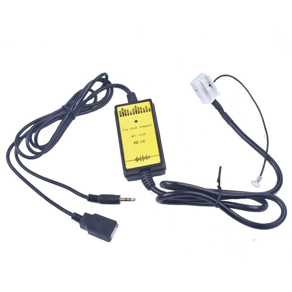 FÜR VW Auto CD Adapter MP3 Audio Interface AUX USB SD 12 P Verbinden CD Wechsler für Audi A3 A4 für VW Käfer Golf für Skoda Superb
