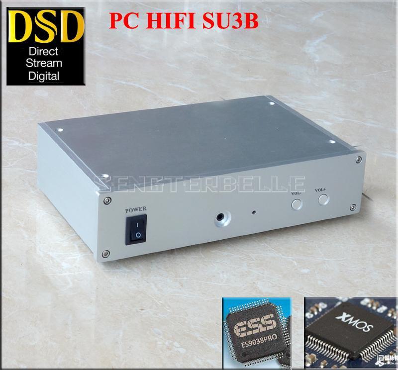 SU3B PC HiFi DAC DSD ES9028PRO+XMOS U8 Asynchronous USB Decoder Headphone Amplifier fiio q1 mark ii hi res audio native dac dsd headphone amplifier xmos 384 khz 32 bit for iphone ipad pc ak4452 q1ii