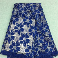 2016 African Lace fabric New Arrival multi Color african cord Lace/guipure lace Fabrics High Quality for wedding dress YJ18-25