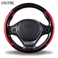 Самодельная оплетка на руле мягкая натуральная кожа чехол на руль 38 см универсальные чехлы на руль с иглой и нитью