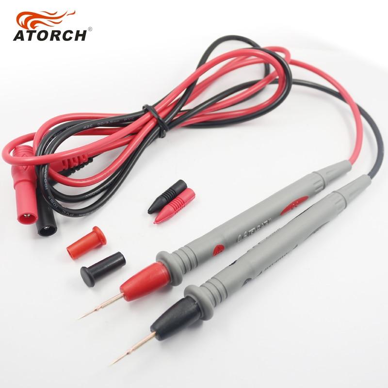 ATORCH tesztkábelek 1000V 20A digitális multiméter toll réz tűk - Mérőműszerek - Fénykép 4