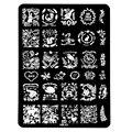 1 Unids Nail Art Sello Estampado de Placa de la Imagen 9.5*14.5 cm de Acero Inoxidable Plantilla Manicura DIY Herramientas De Impresión, 11 Estilos Para Elegir