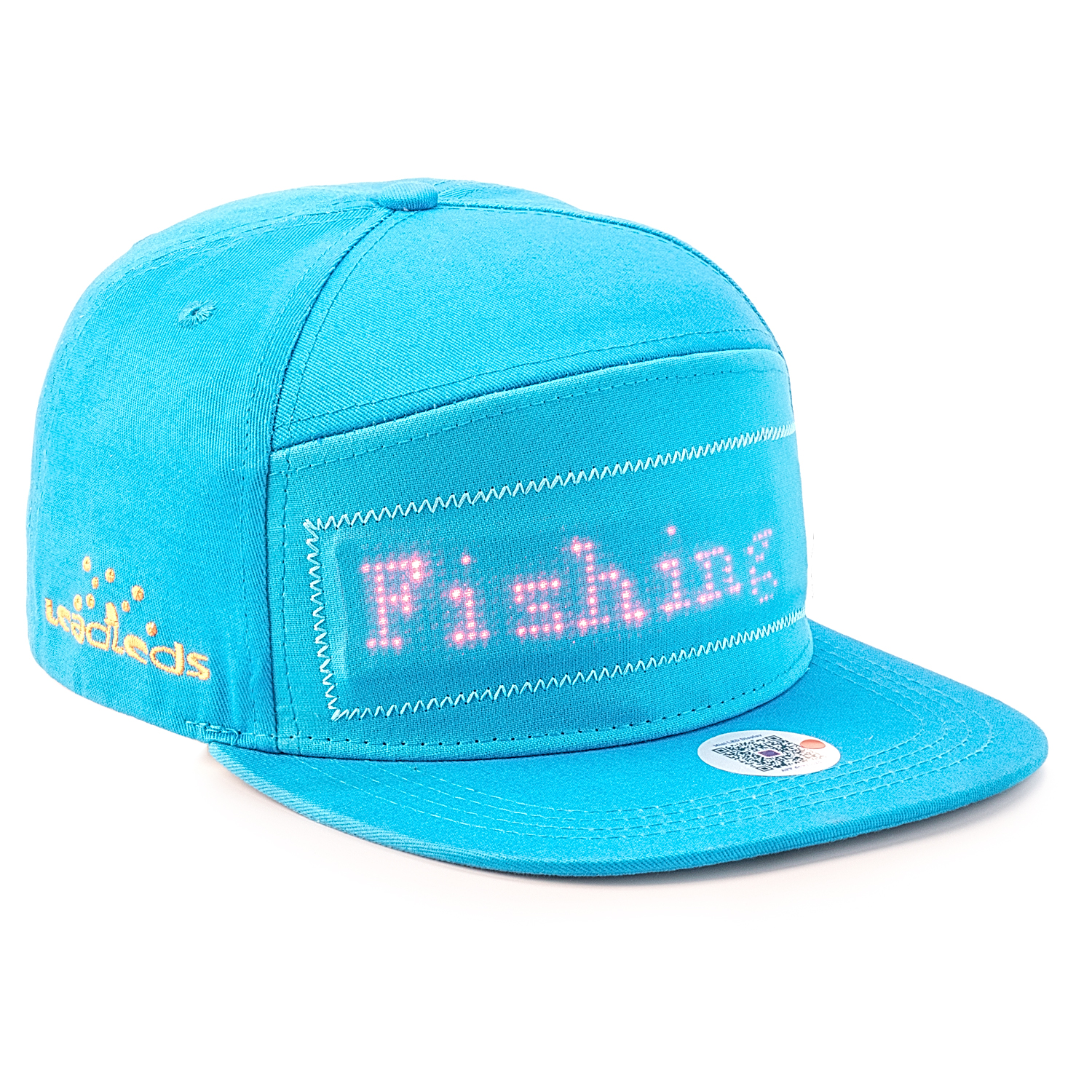 Bluetooth LED Hat Battery Powered Programmable Scrolling Message Display Board Baseball Cap Hip Hop Hip-hop Party Parade Fishing