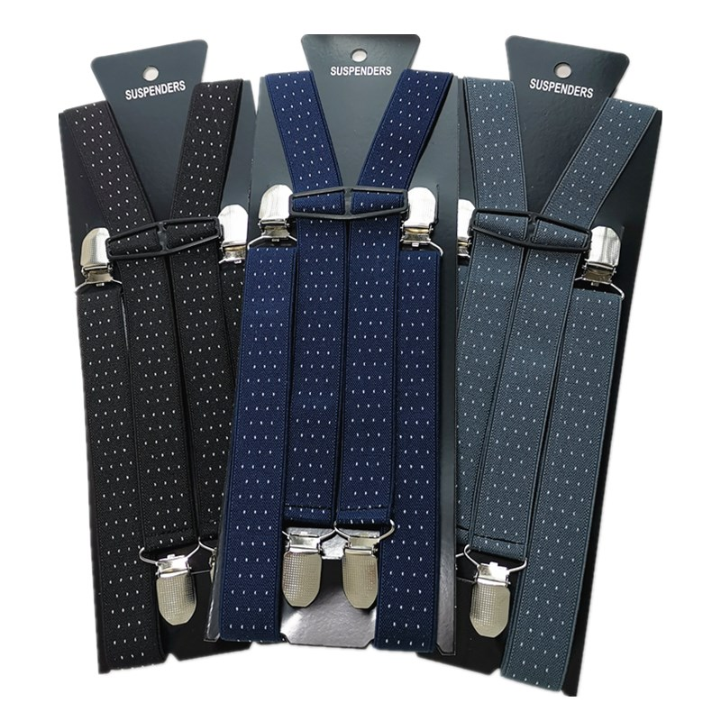 Forceful Adult Dot Jacquard Suspenders Men Women Elastic Adjustable Suspensorio Braces Kids Children Party Wear Match Shirt Bd040 Apparel Accessories
