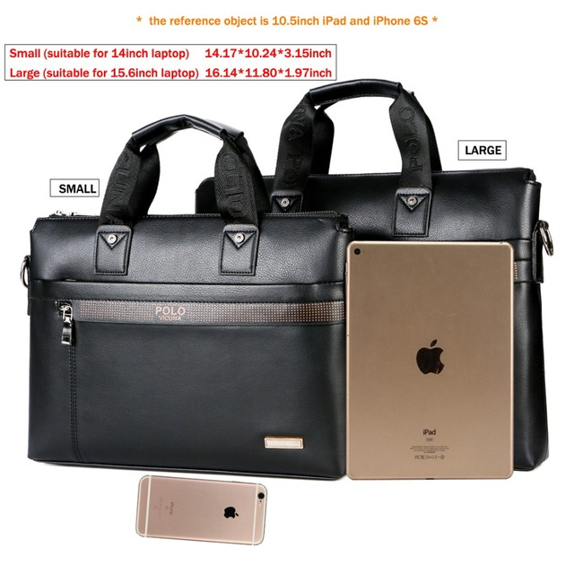VICUNA POLO Top Sell Fashion Simple Dot Famous Brand Business Men Briefcase Bag Leather Laptop Bag Casual Man Bag Shoulder bags 1