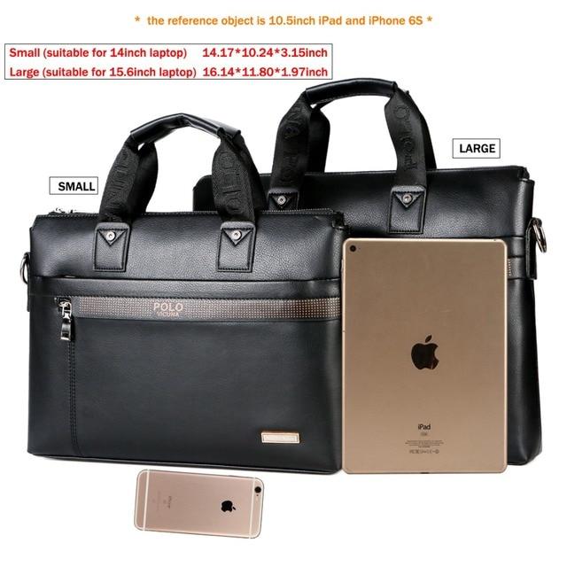 VICUNA POLO Top Sell Fashion Simple Dot Marca Famosa Hombres de negocios Maletín Bolsa de cuero Bolsa de ordenador portátil Bolsa de hombre casual