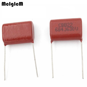 Image 1 - MCIGICM 500 pcs  684 680nF 630V 10pcs CBB Polypropylene film capacitor pitch 22mm 684 680nF 630V