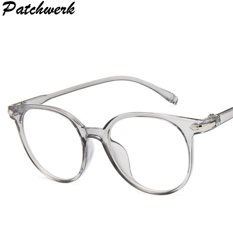 Brillenrahmen Damenbrillen Korean Mode Klare Gläser Rahmen Anti Blaues Licht Gläser Frauen Gefälschte Brille Rosa Optische Brillen Rahmen Transparent Oculos