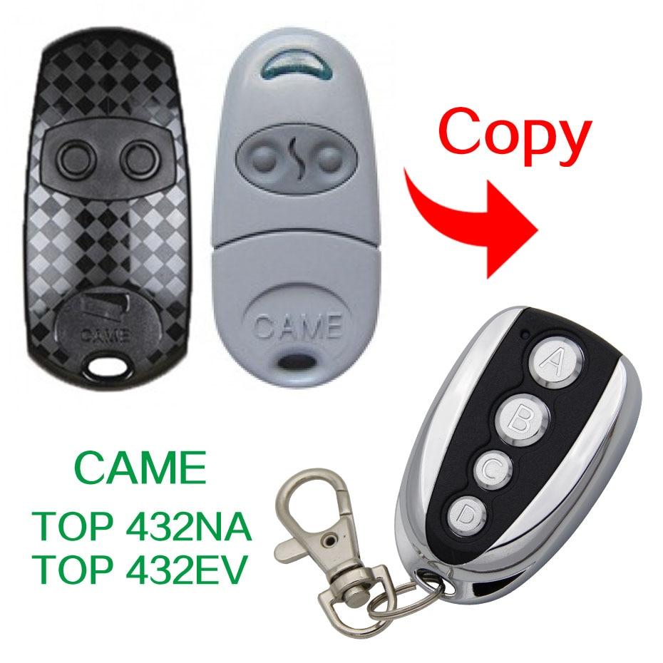 Copy CAME TOP432NA TOP432EV Universal gate door remote control CAME TOP-432NA TOP432-EV 433.92mhz remote control