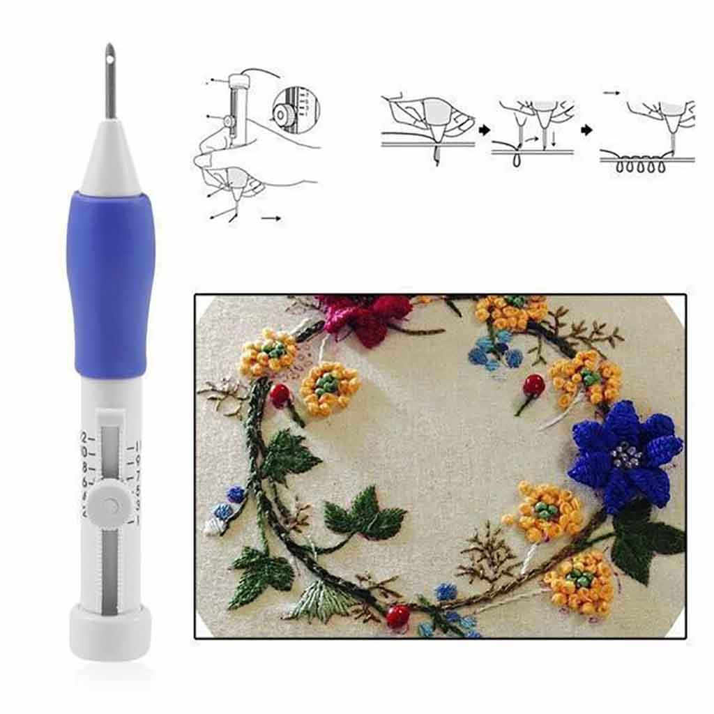 Magia DIY haft zestaw długopisów Knitting zestaw narzędzi do szycia punch needle szwy tkania narzędzie fantazyjne dorosłych DIY narzędzie do haftu