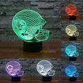 NFL Jacksonville Jaguars 3D Night Light 1 Set Free Shipping 7 Colors Change LED Table Lamp Xmas Gift Creative Night Lamp