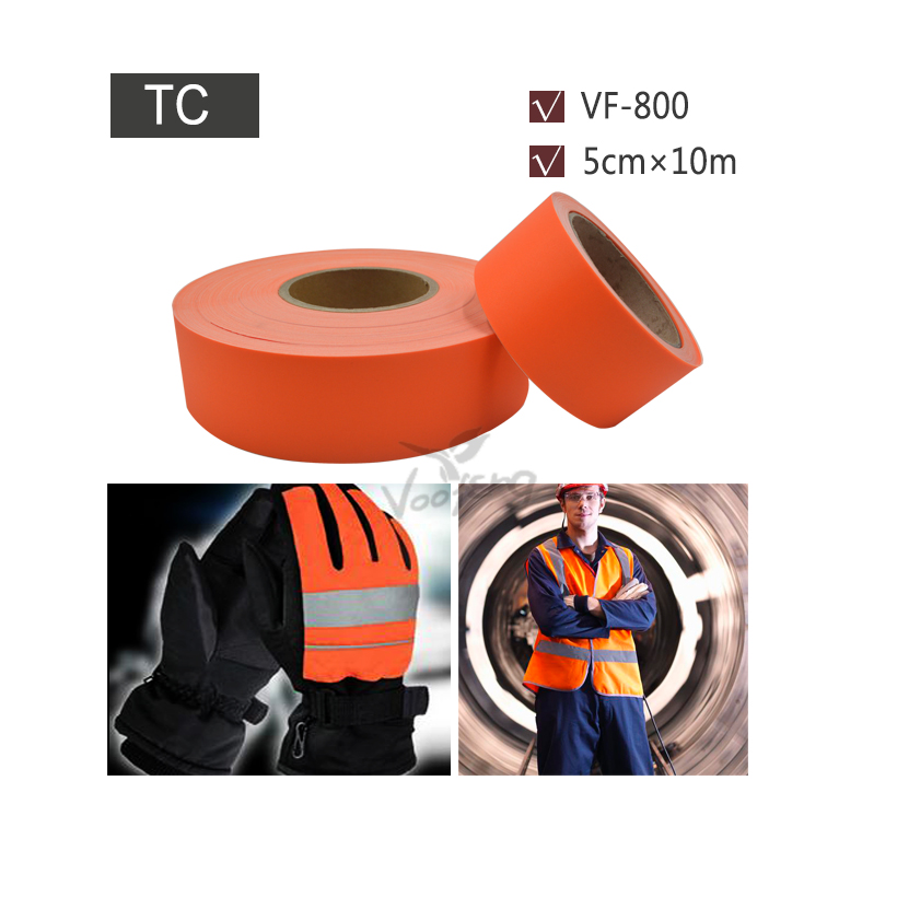Фотография 5cmx10m reflective tc fabric with orange color for reflex clothes free shipping