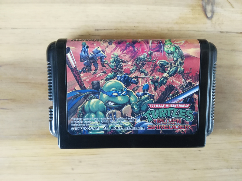 MD Game : <font><b>TEENAGE</b></font> <font><b>MUTANT</b></font> <font><b>NINJA</b></font> <font><b>TURTLES</b></font> - RETURN OF THE <font><b>SHREDDER</b></font> ( Japan Version!! )