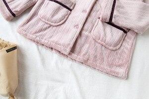 Image 5 - Fdfklak nỉ mặc mùa đông pyjamas nữ dày ấm đồ ngủ bộ đồ ngủ bộ thu đông Pijama của cặp đôi váy ngủ Bộ Pyjama Femme