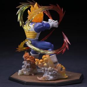 Image 4 - Anime Dragon Ball Z  Vegeta Zero Version Action Figure DBZ Shock Wave Battle Ver.  PVC Collectible Model Toy  15cm