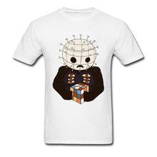 6be529e00f49 The Real 80s Horror 2018 Men T-shirt Pinhead Rubiks Cube Printed Funny  Summer Clothing
