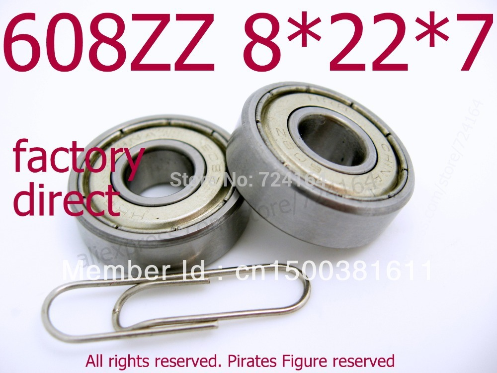 1PCS Roller Rolling Skate Ball Bearings 608-2RS 8x22x7mm Surplus Fidget Spinner