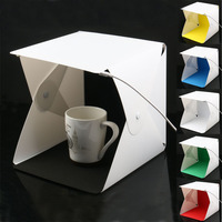 6 Color Backgrounds Portable Folding Lightbox Photography Studio Softbox With LED Light Photography Background Photo Studio box
