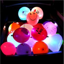 LED lights flashing luminous balloon wedding party decoration festival supplies glow color balloons 5/a