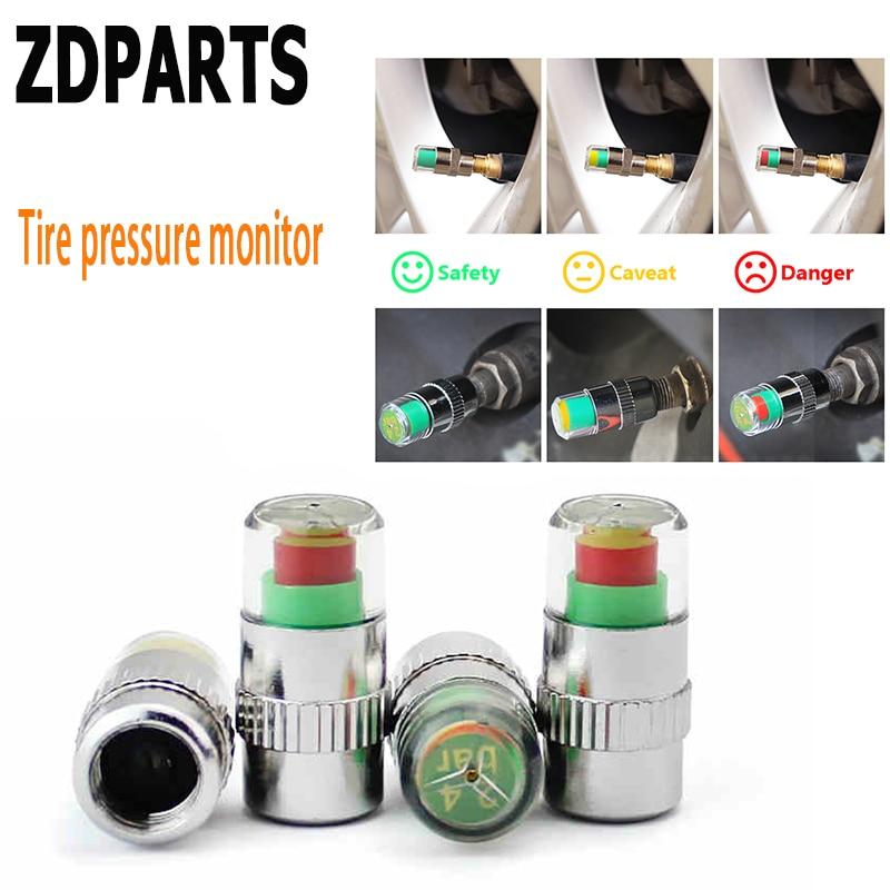 ZDPARTS 4X Car Tire Wheel Air Valve Caps Warning Pressure Cover For Audi A3 A4 B7 B8 B6 A6 C6 C5 Q5 Nissan Qashqai Juke X-trail