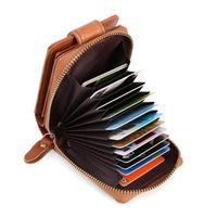 Genuine Leather Men Card Holder Solid Vintage Men Business Card Wallet Id Holders Brand Designer Male Leather Coin Purse Small