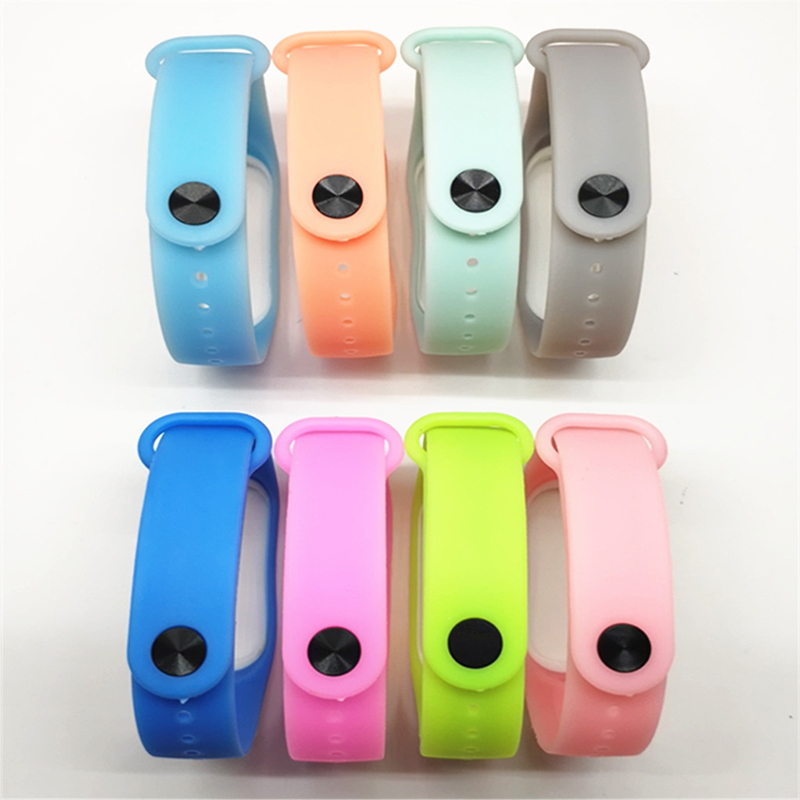 Image 5 - BOORUI Luminous Silicone Miband 3 Strap pulsera adjustable Colorful wrist strap replacement for xiaomi mi 3 smart bracelets band-in Smart Accessories from Consumer Electronics