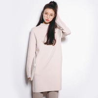 2017 Autumn New Sweater Korean Elasticity Was Thin Round Collar Slim Shirt Female A235