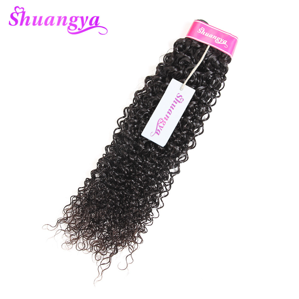 Mongolian Kinky Curly Hair Weave Bundles 100% Human Hair Extensions 10-28 Inch Remy Hair Weaving Free Shipping Shuangya Hair