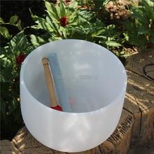 8″ Tuned tones Note A Third Chakra quartz crystal singing bowls 432hz