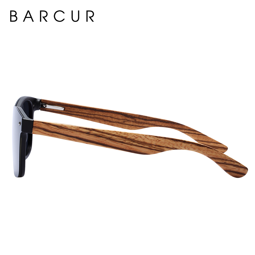 BARCUR Luxury Vintage Sun Shade Men Wooden Sunglasses UV400 Protection Fashion Square Sun glasses Women