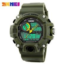 SKMEI Male Fashion Sport Military Wristwatches Watches Men Luxury Brand 3ATM 30m Dive LED Digital Analog