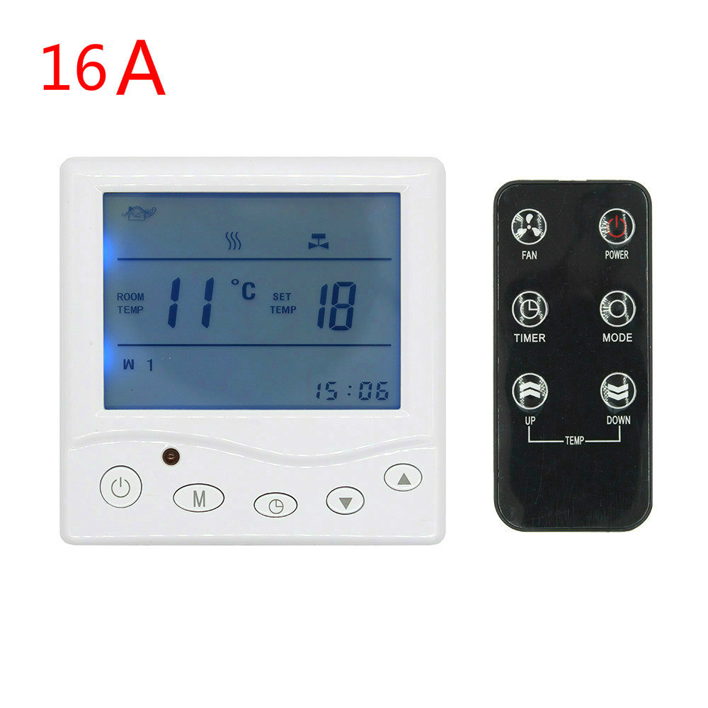 16A 3A programmable thermostat Digital Temperature Controller radio control for underfloor heating boiler heater room radiant hot sale digital boiler electric heating temperature instruments thermostat thermoregulator 16a air underfloor with floor sensor
