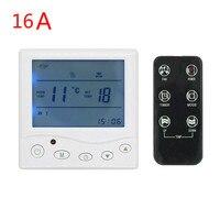 16a 3A программируемый цифровой термостат Температура Управление Лер радио Управление для полов с подогревом обогреватель Radiant