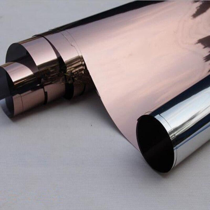 1.52x30 m en gros brun et argent miroir réfléchissant fenêtre Film maison bureau verre autocollant 60''x100ft