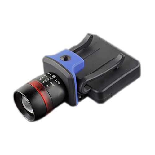 Useful XPE LED 120 Lumen 3 modes waterproof zoomable Clip - on Cap Hat Light flashlight black