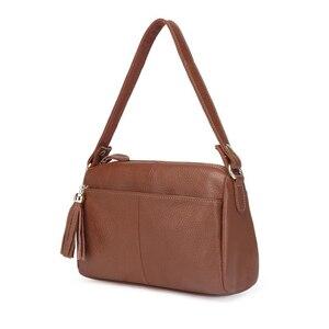Image 2 - Женская сумка мессенджер из 100% натуральной воловьей кожи, винтажная маленькая сумка через плечо для девушек, мм2315